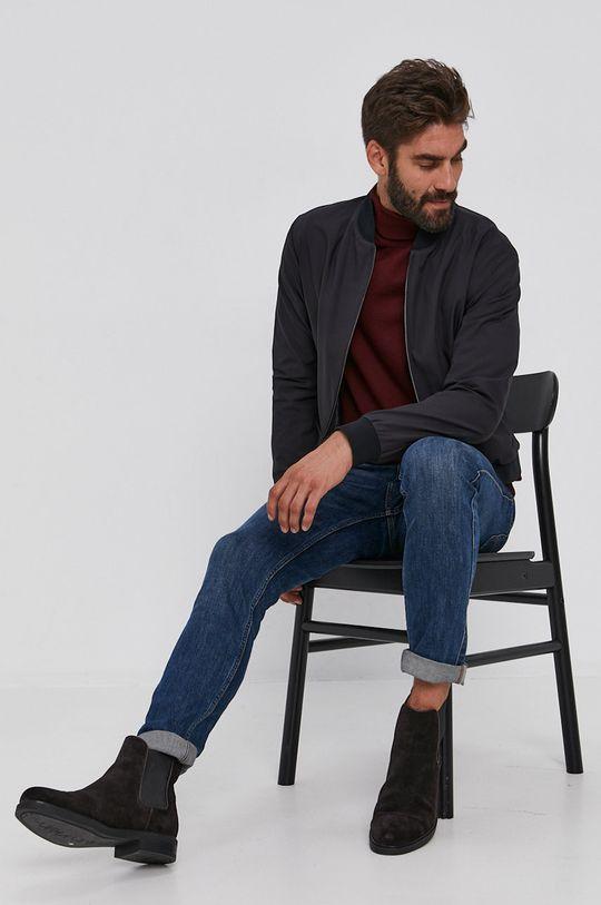 Joop! - Sweter wełniany mahoniowy
