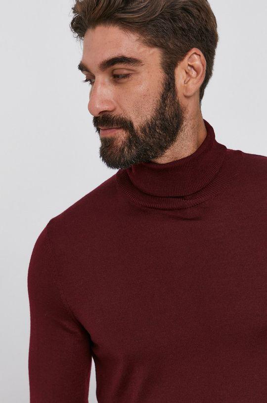 mahoniowy Joop! - Sweter wełniany