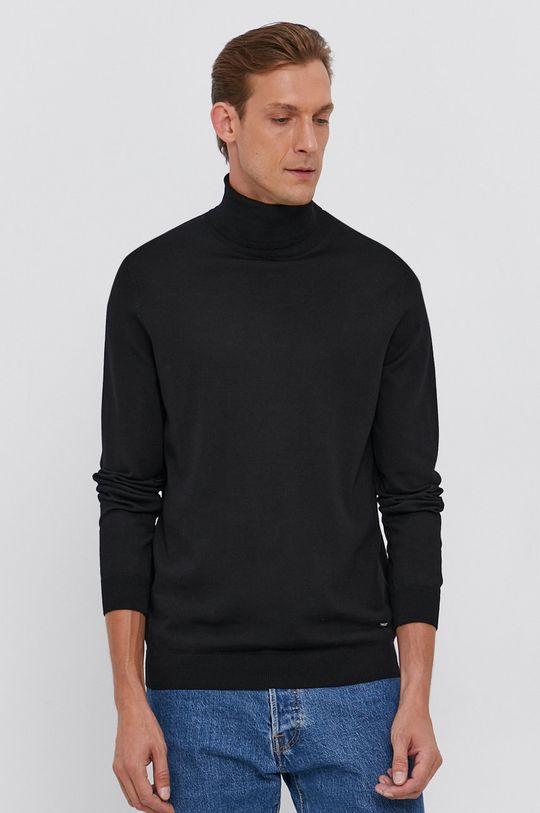 czarny Joop! - Sweter wełniany Męski