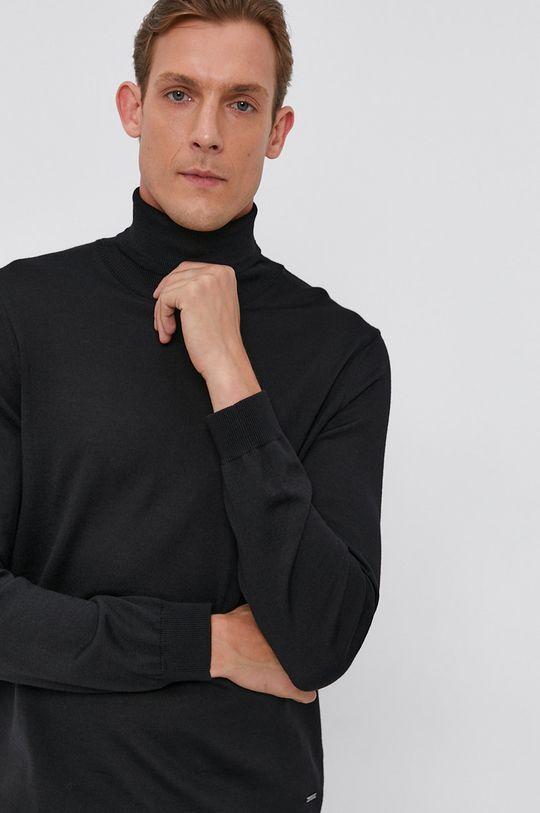 czarny Joop! - Sweter wełniany