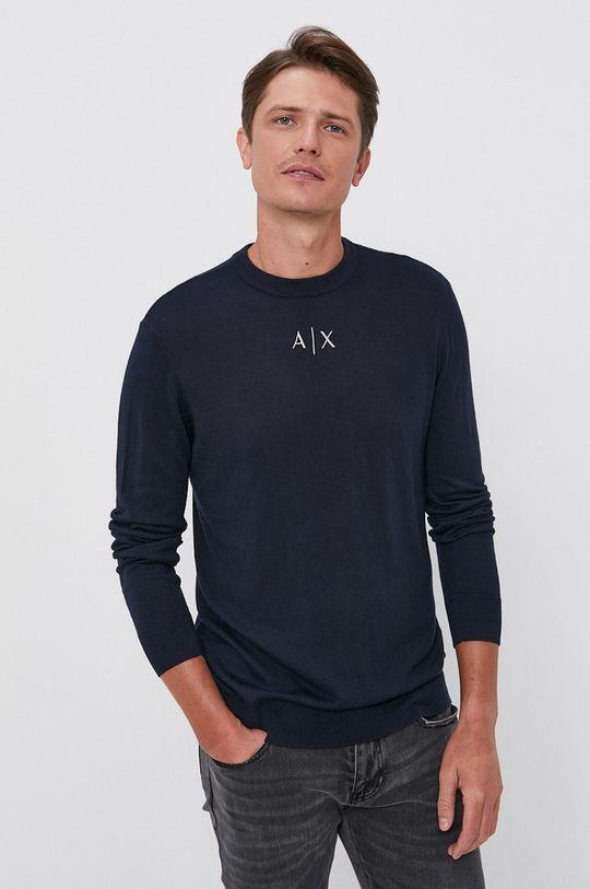 Armani Exchange - Sweter granatowy