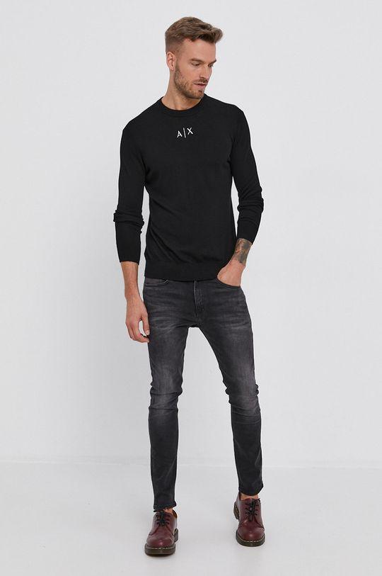 Armani Exchange - Sweter czarny