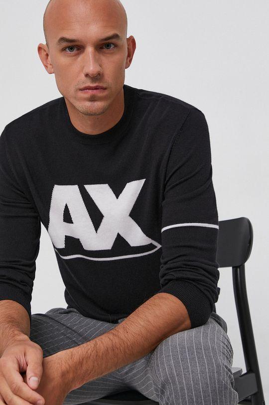 czarny Armani Exchange - Sweter Męski