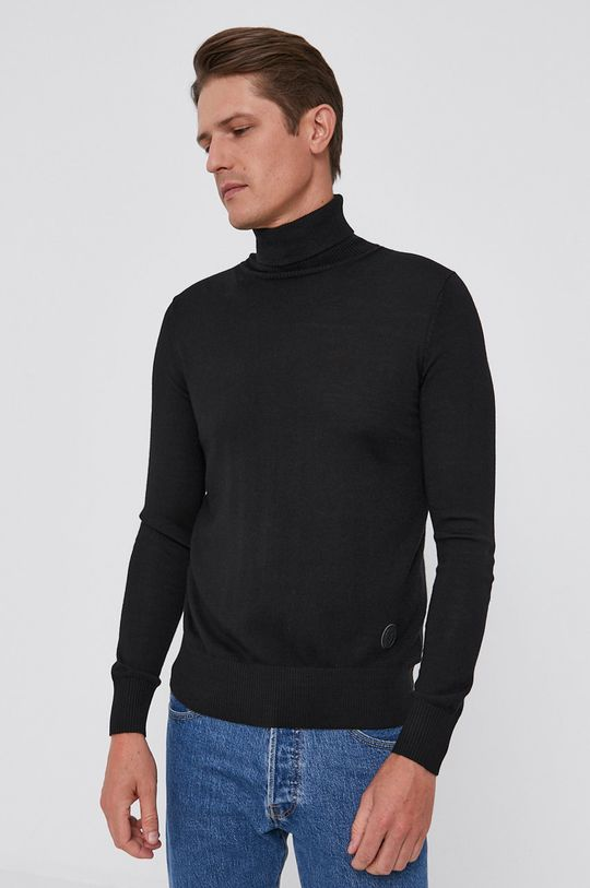 czarny Trussardi - Sweter wełniany