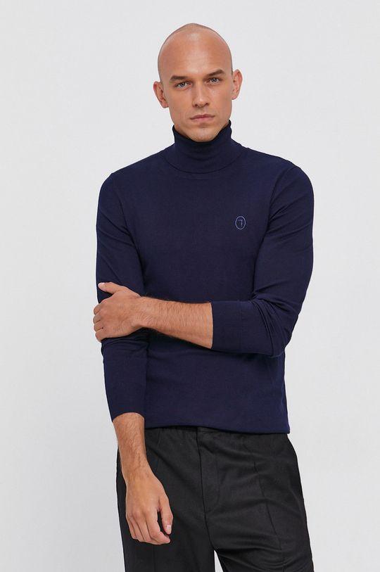 granatowy Trussardi - Sweter