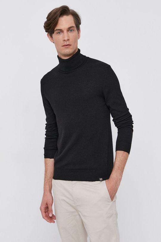 czarny Colmar - Sweter z domieszką wełny Męski