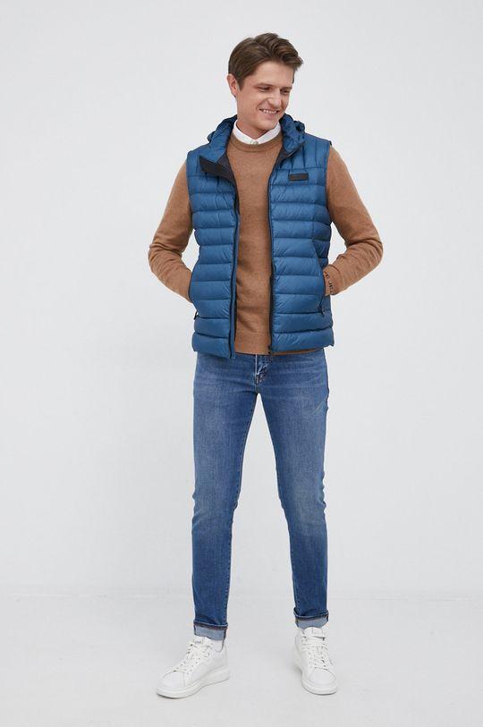 Pepe Jeans - Sweter z domieszką wełny Andre piaskowy
