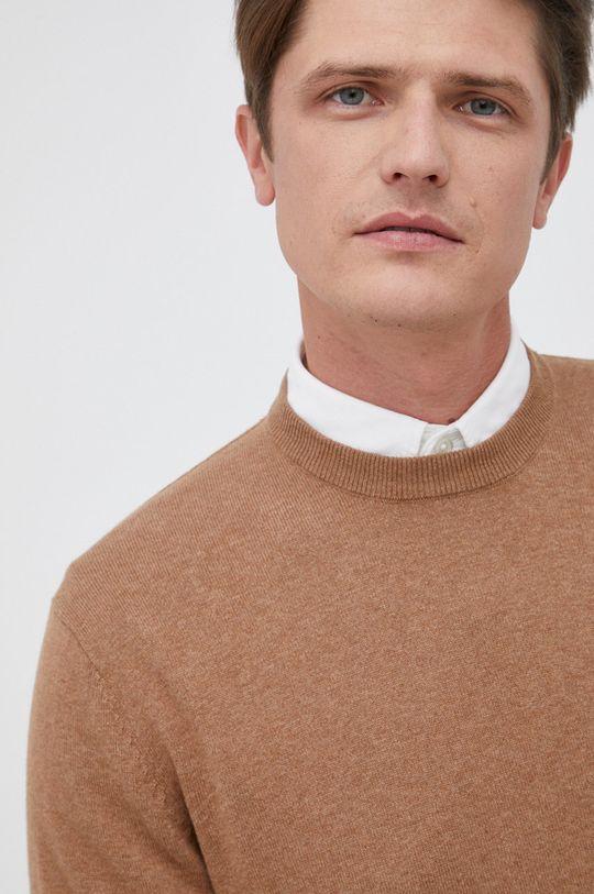 piaskowy Pepe Jeans - Sweter z domieszką wełny Andre