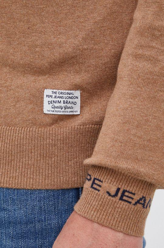 Pepe Jeans - Sweter z domieszką wełny Andre Męski