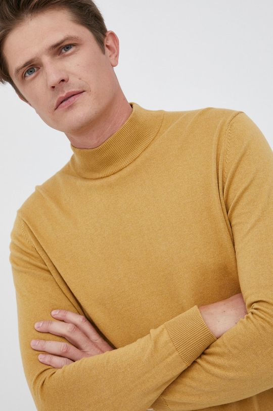 żółty Pepe Jeans - Sweter z domieszką wełny Charles Męski