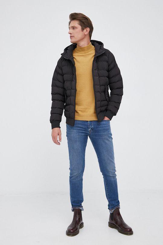 Pepe Jeans - Sweter z domieszką wełny Charles żółty