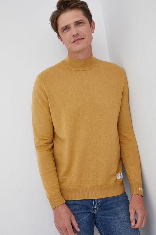 żółty Pepe Jeans - Sweter z domieszką wełny Charles