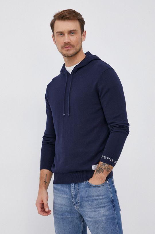 námořnická modř Pepe Jeans - Svetr se směsí kašmíru Gaston