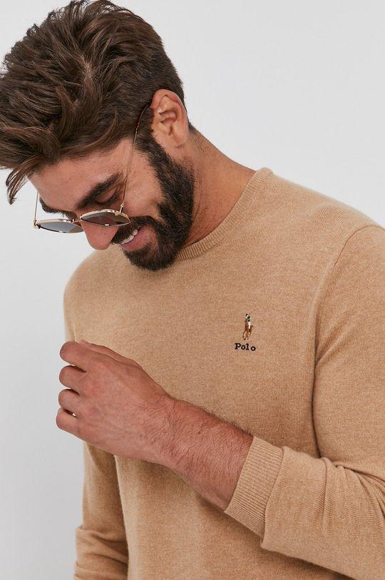 beżowy Polo Ralph Lauren - Sweter wełniany Męski