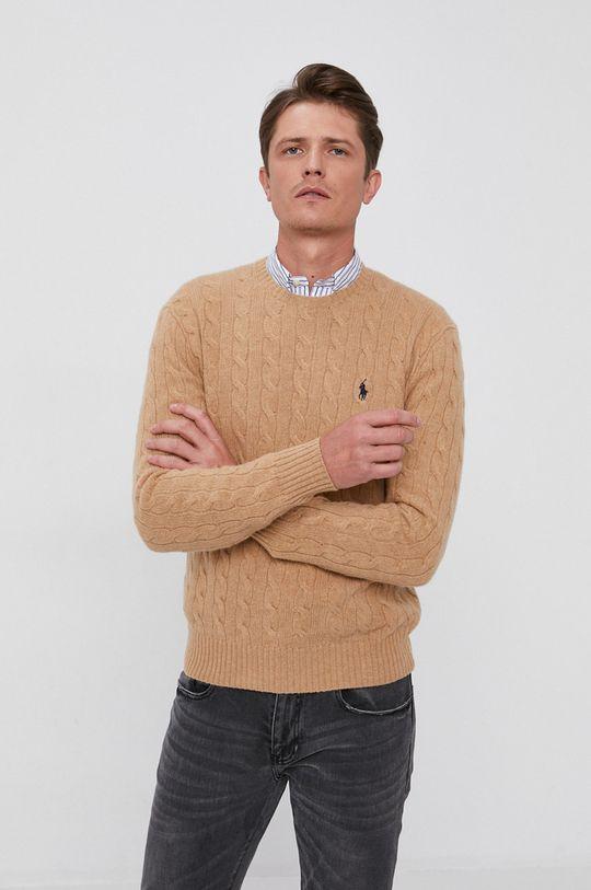 beżowy Polo Ralph Lauren - Sweter Męski