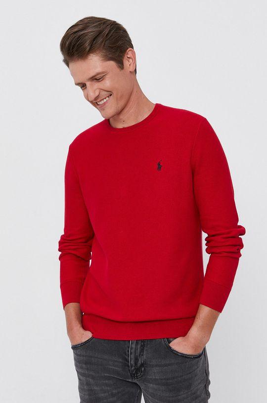 czerwony Polo Ralph Lauren - Sweter Męski