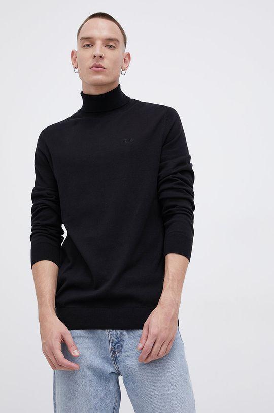 czarny Lee - Sweter bawełniany Męski