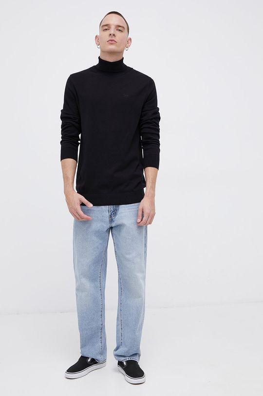 Lee - Sweter bawełniany czarny