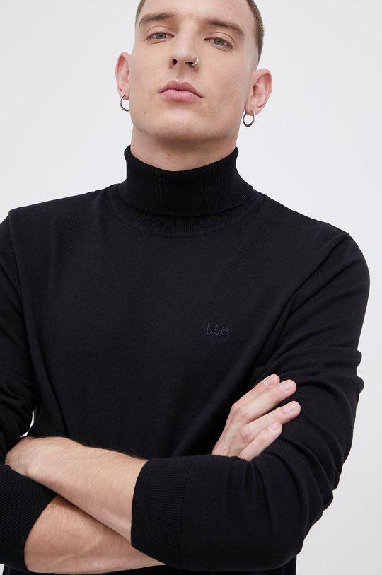 czarny Lee - Sweter bawełniany