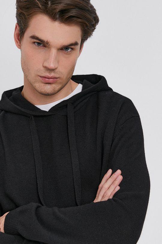 czarny Drykorn - Sweter z domieszką wełny Findus Męski