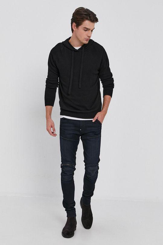 Drykorn - Sweter z domieszką wełny Findus czarny