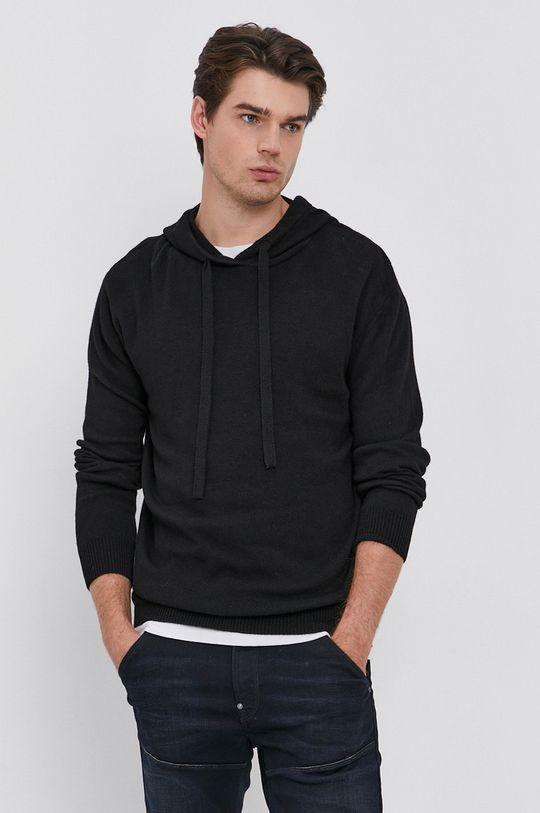 czarny Drykorn - Sweter z domieszką wełny Findus