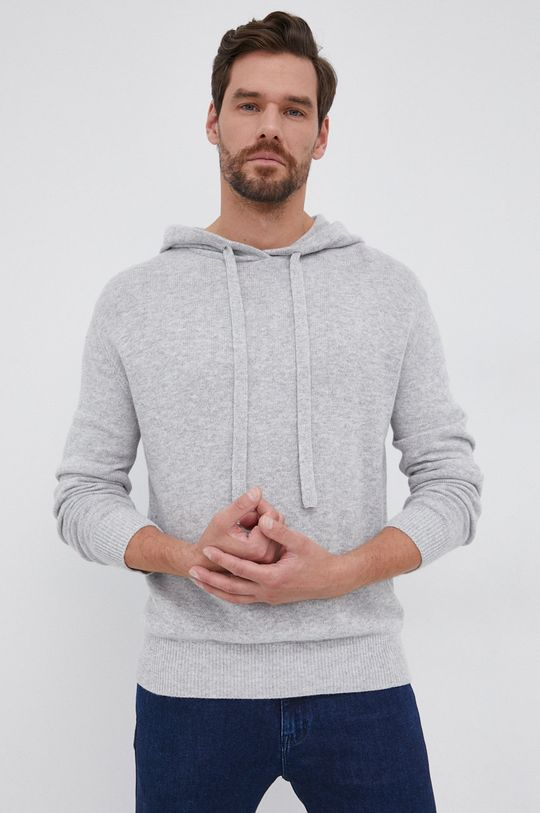 szary Drykorn - Sweter Findus Męski