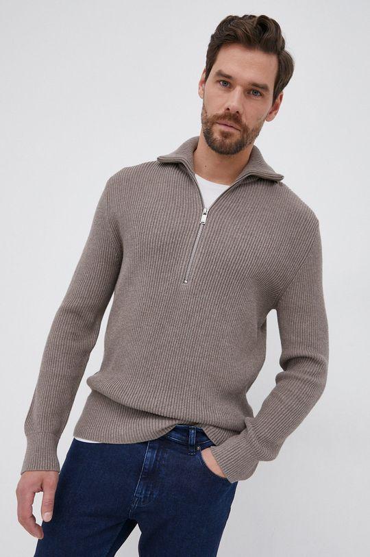 Drykorn - Sweter Manuelo brązowy