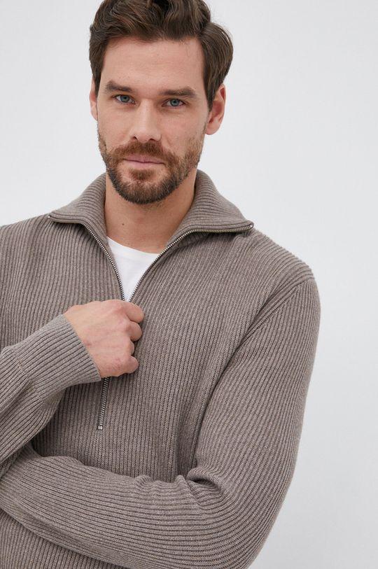 brązowy Drykorn - Sweter Manuelo