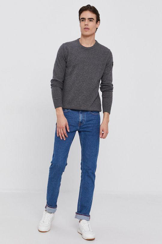 PAUL&SHARK - Vlněný svetr šedá
