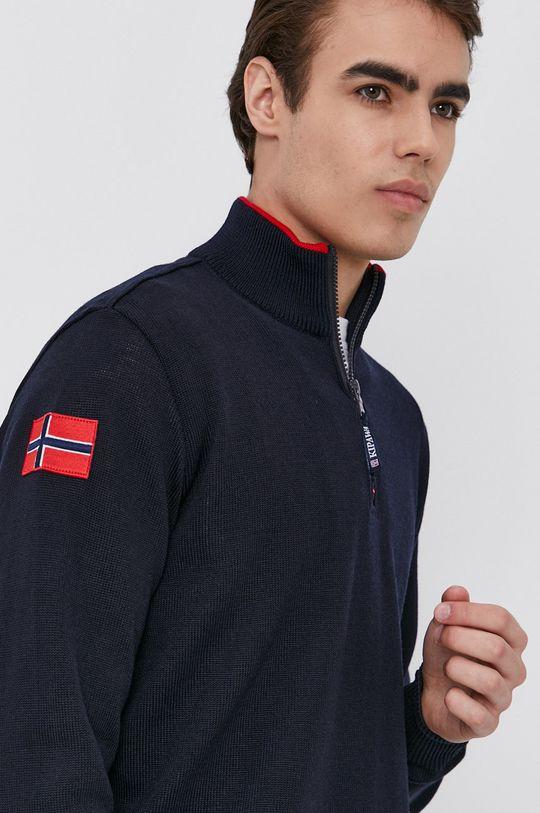 námořnická modř PAUL&SHARK - Vlněný svetr