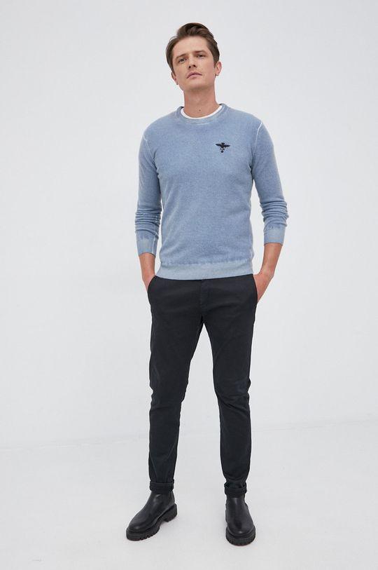 Aeronautica Militare - Sweter wełniany jasny niebieski