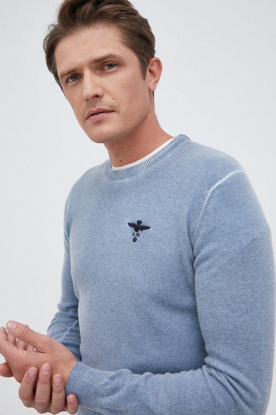 jasny niebieski Aeronautica Militare - Sweter wełniany