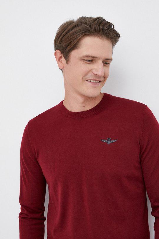 kasztanowy Aeronautica Militare - Sweter wełniany