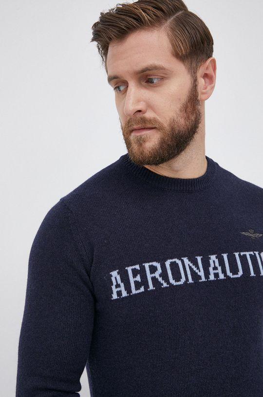 granatowy Aeronautica Militare - Sweter wełniany