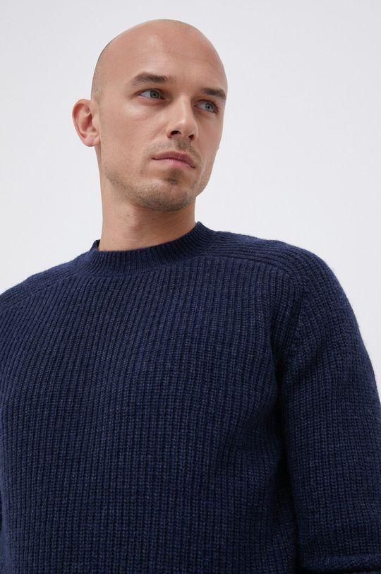 námořnická modř !SOLID - Vlněný svetr