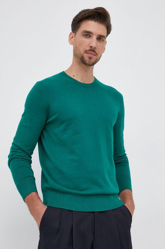brązowa zieleń GAP - Sweter Męski