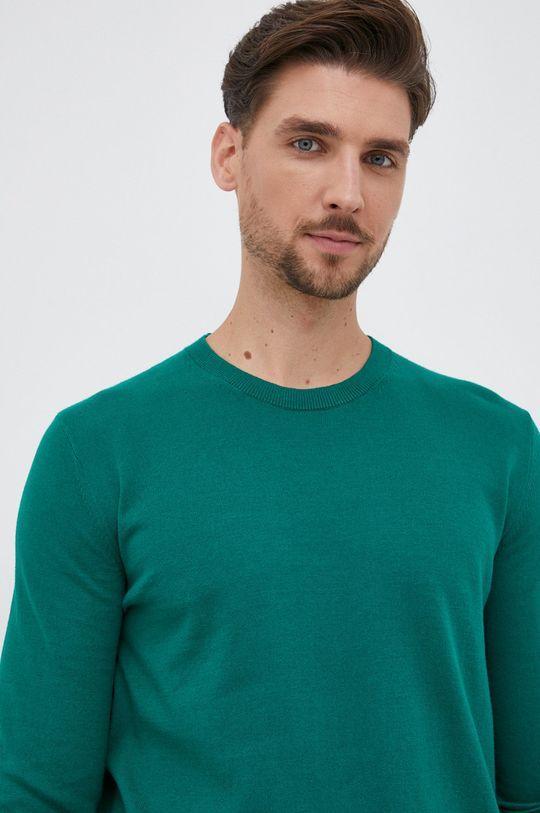 brązowa zieleń GAP - Sweter
