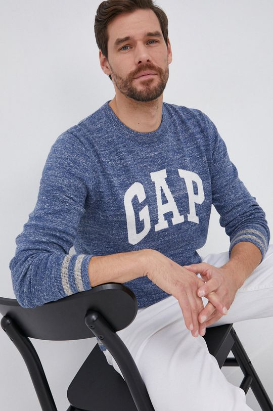 niebieski GAP - Sweter Męski