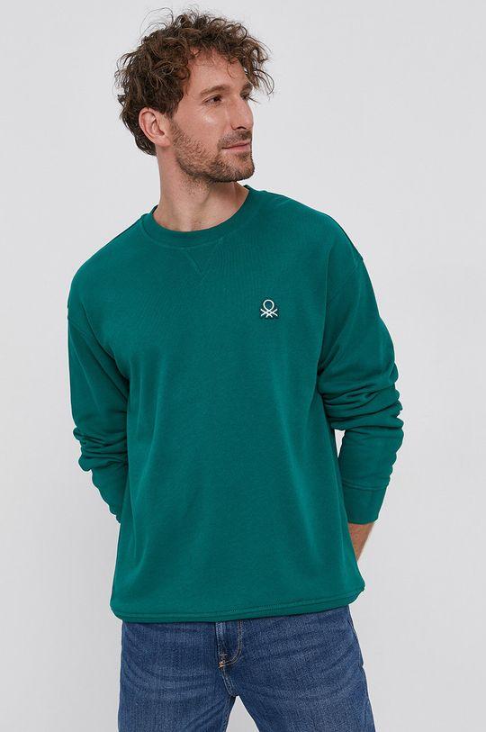 verde United Colors of Benetton - Hanorac de bumbac De bărbați
