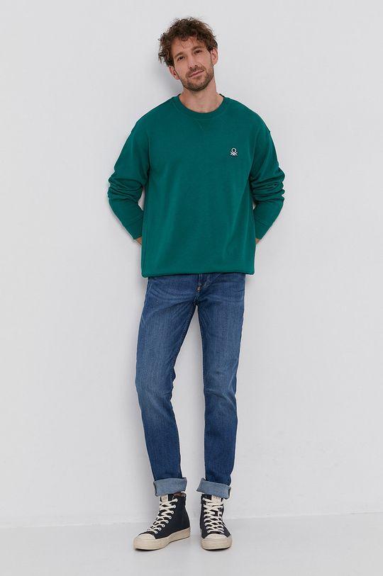 United Colors of Benetton - Hanorac de bumbac verde