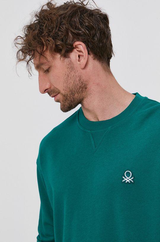verde United Colors of Benetton - Hanorac de bumbac