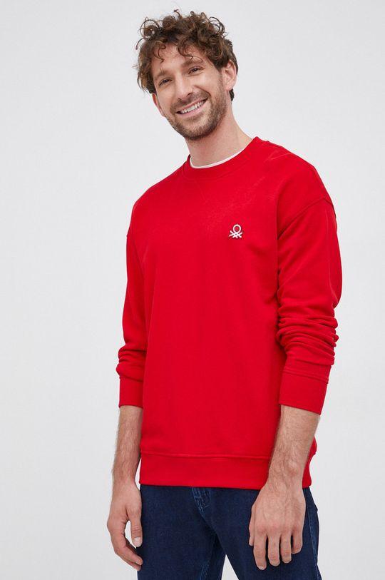 rosu United Colors of Benetton - Hanorac de bumbac De bărbați