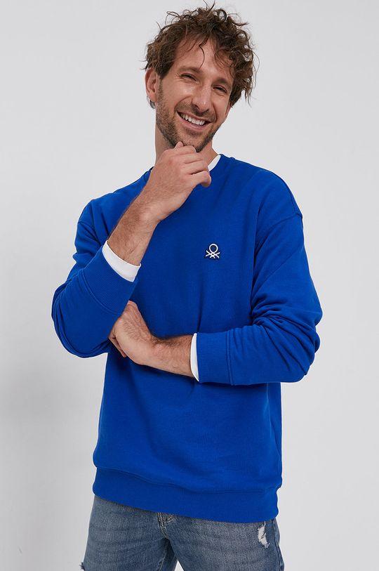 albastru United Colors of Benetton - Hanorac de bumbac De bărbați