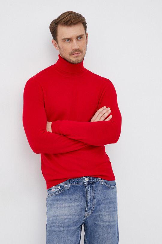 červená United Colors of Benetton - Vlněný svetr