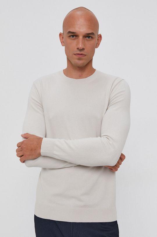 szary Sisley - Sweter Męski