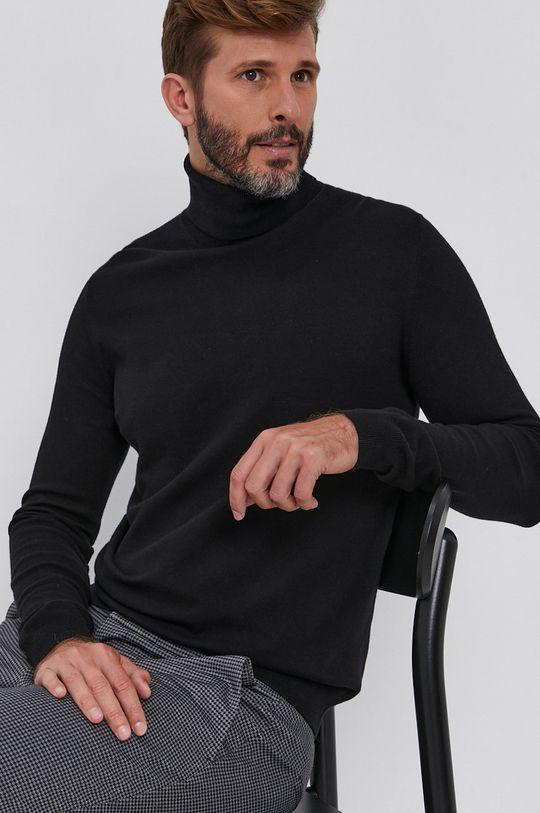 czarny Sisley - Sweter