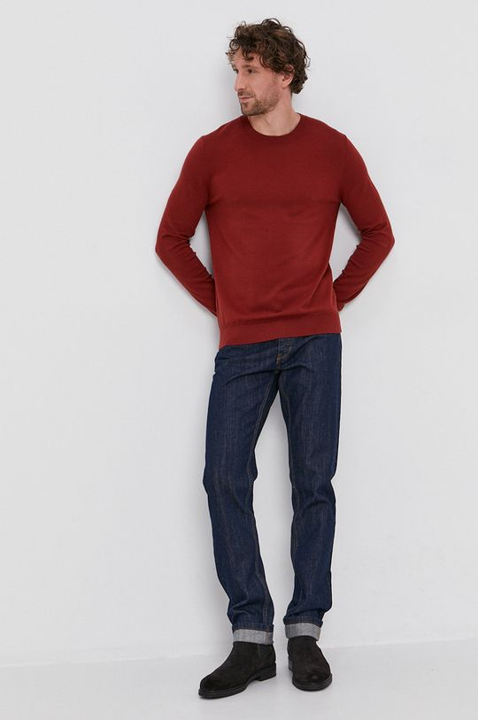 czerwony Sisley - Sweter Męski