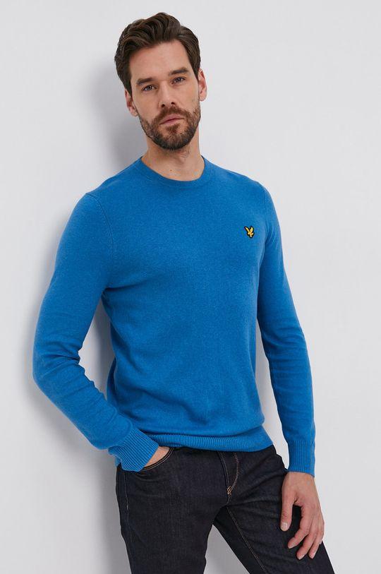 niebieski Lyle & Scott - Sweter z domieszką wełny