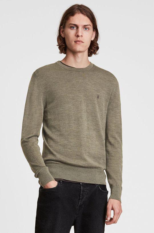 jasny oliwkowy AllSaints - Sweter wełniany Męski